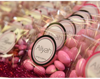 Round Candy Bag Wedding - 100qty Custom Labels - Candy Bar Stickers - Envelope Seals