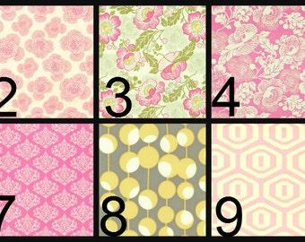 Crib Blanket, Crib Bedding, Crib Quilt, Baby Bedding, Block Baby Quilt, Square Baby Quilt, pink, green, gray, yellow