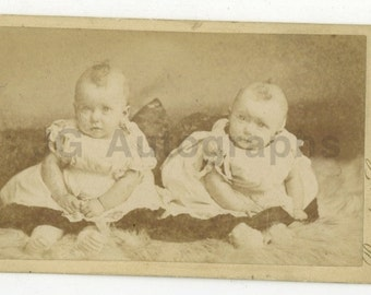 19th Century Infants - Vintage Cdv Photo by Beneditti & Co.