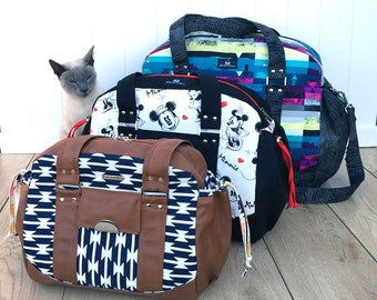 Travel Bags - The Lunar Collection by ChrisW Designs - Includes THREE sizes! Great Nappy Bag Too!