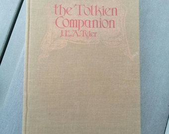 Vintage Hardcover book no Dust Jacket The Tolkien Companion by J.E.A. Tyler 1976 Lord of the Rings Cyclopedia