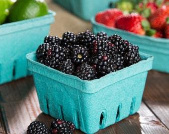 12/ Pint  Berry Baskets, Berry Till, Eco Friendly Paper Pulp Basket, Wedding Favor Basket, Farm Theme Party Favor, Spring Basket