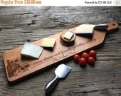 10% OFF THRU FEB Personalized Cheese + Bread Board - Custom Engraved - Closing Gift, Wedding Gift, Housewarming Gift, Anniversary Gift