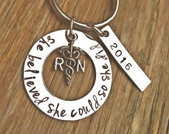 Graduation Gift, She Believed She Could So She Did, Graduation Nurse, RN Gift, graduation 2016