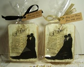 Gatsby Favors, Glam favors, Chic favors, organic handmade soaps. wedding favors, shower favors. Gold or Black ribbons, 50 favors