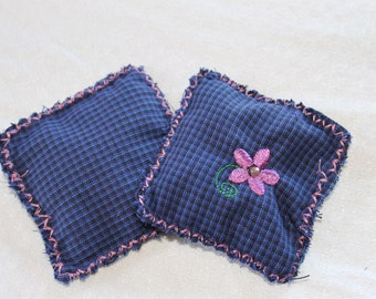 Handmade hand warmers filled with flaxseed and organic lavender