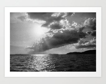 Black White Film Seascape Photography Print