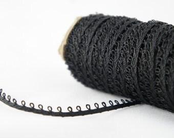 33 Yards Of Black Lace Trim - Black Vintage Sewing Trim - Black Antique Lace Trim - Black Finishing Trim - Bulk Scalloped Black Lace Trim