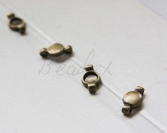 40pcs / Settings / Antique Brass Tone / Base Metal / Links (X1347//A280)