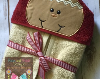 Gingerbread Man Hooded Towel (Ready to Ship)