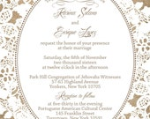 Burlap and Lace Extra Extra Wedding Invitations, Rustic Summer Wedding, Custom Wedding Invitation Listing for karinajsolano