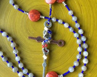 Labradorite Catholic Rosary 5-Decade