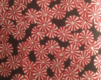 Christmas Peppermint Candy Cane Fabric BTY