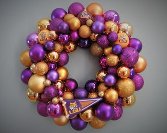 LSU TIGERS Wreath  FOOTBALL Ornament Wreath
