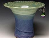 Ceramic Earring Holder - lime green & purple