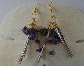 Amethyst Stone Dangle Earrings