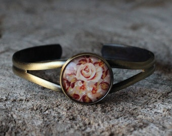 Bracelet petite merveille fleur beige (BR-30)