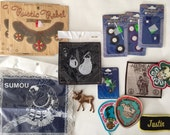 Lot of Assorted Patches, Vintage and New Patches, Crafting Supply, Sewing Supply