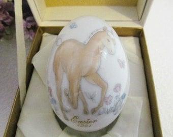 Noritake Easter Egg Bone China  1981 Limited Edition Playful Pony
