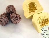 Silicone pinecone mold for cake decorating, chocolate mold, polymer clay mold, silicone mould, resin mold, gumpaste pine cone mold