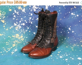 30% OFF Tall Two-Tone Lace Up Boots Men's boot 9 D