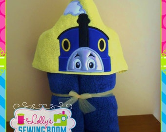 Thomas the Train custom embroidered hooded towel - can be personalized