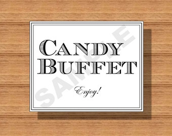 Wedding Candy Buffet Sign, Printable Candy Buffet Sign, Candy Buffet Sign for your Special Event, Bridal Shower Candy Buffet Sign