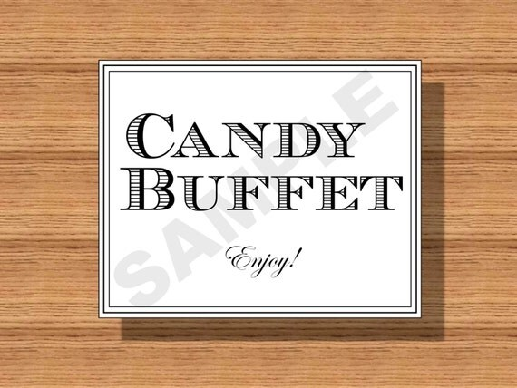 Wedding Candy Buffet Sign Printable Candy Buffet Sign Candy