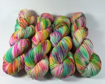 HauteKnitYarn, Sport Socks, 100 grams, Strange Folks, Hand Dyed Yarn, Superwash merino, Sport , variegated yarn