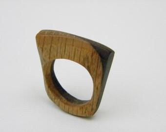 Oak and Walnut wood ring