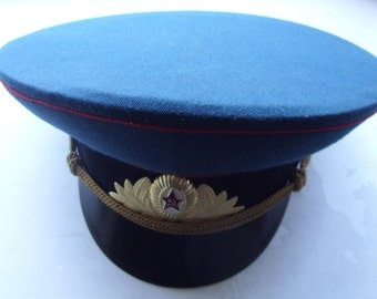 USSR Soviet Military ARTILLERYMAN CAP with Cockade Red Star Hammer and Sickle !!