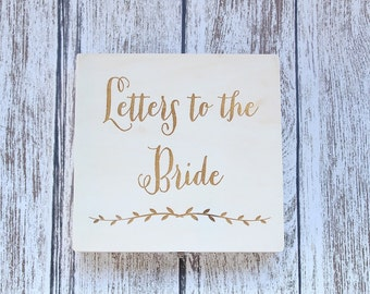Letters To The Bride Box Custom Engraved Box DownInTheBoondocks