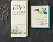 Save the Date Cards, Printed, with Customizable Inks, Papers, Fonts, Envelope Colors & Styles (Modern, Rustic, Vintage, Floral)