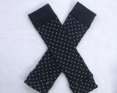 Navy Blue with Gray Dots / Leg Warmers / Baby, Toddler