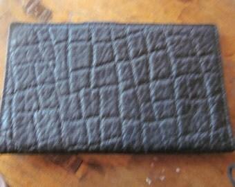 SALE..large pigskin wallet, unused vintage wallet. day timer,