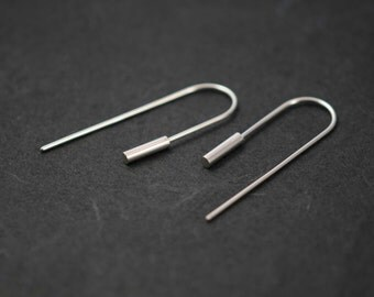 Cylindrical bar earrings N2 // Modern design earrings // architectural jewelry // contemporary jewelry // CL002