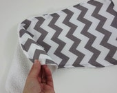 chevron burpie in your chevron color choice reverse side is absorbent terry cloth in your color choice. baby shower gift burp cloth.