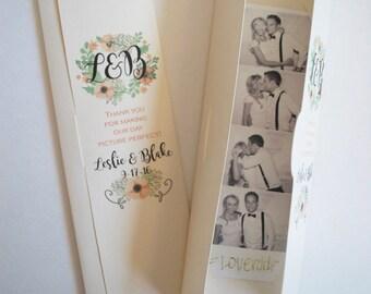Photobooth  Photo-Strip Party Favor Floral Wreath design