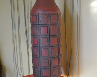 Brick Red Mid Century Ceramic Lamp Base