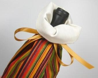 Autumn Stripes, Class Wrap Wine Gift Bag