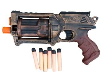 Steampunk TOY gun Nerf Maverick soft dart toy Cyber gothis cospla Vampire Zombie Man Wholesale price