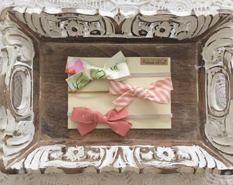 Pink Baby Bow set - Newborn Hair Bows