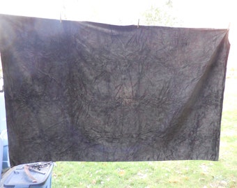 Brown/Green Velvet Paisley Long Table Cover Material/Fabric Display Sewing Projects Soft