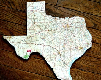 TEXAS State Map Wall Art (Small size)
