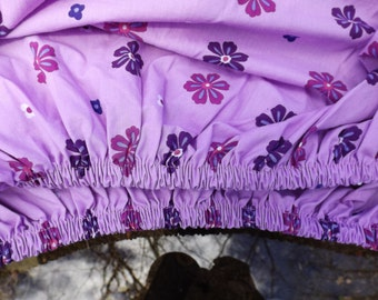 "TWIN fitted sheet excellent new condition. Floral lilac. New old stock 38""W, 74""L Home decor.Bedding 60% cotton"