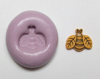 Bee small mini  Mold #870 - silicone mold, craft mold, porcelain mold, jewelry mold, charm mold, magnets mold, miniatures mold, pins mold