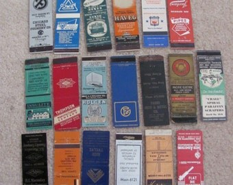 Lot of 19 Assorted Vintage Antique Older Matchbook Matches Covers (#6)