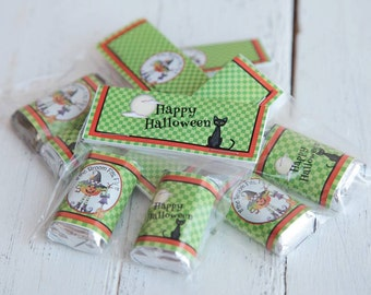 Halloween party favors, Halloween gift sets, Happy Halloween party, Halloween chocolate bag topper, Chocolate with bag topper set.