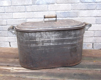 Large Galvanized Metal Tub With Lid