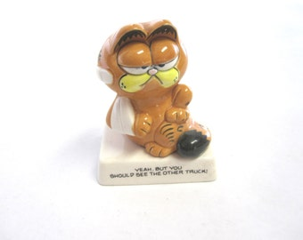 Garfield Figurine Jim Davis Yeah But You Should See The Other Truck Enesco